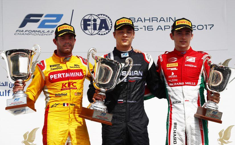 FIA F2 - Bahrain - Course 1 : premier podium pour Charles !