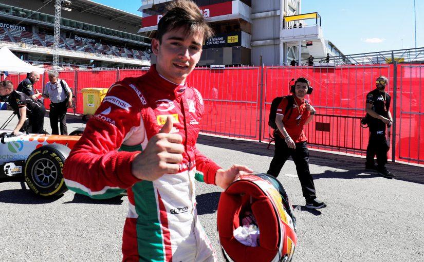 FIA F2 - Barcelone : Charles à nouveau en pole !