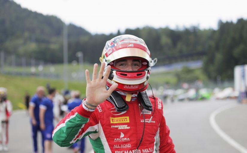 FIA F2 - Red Bull Ring : Charles reçu 5 sur 5 et dans l'histoire !