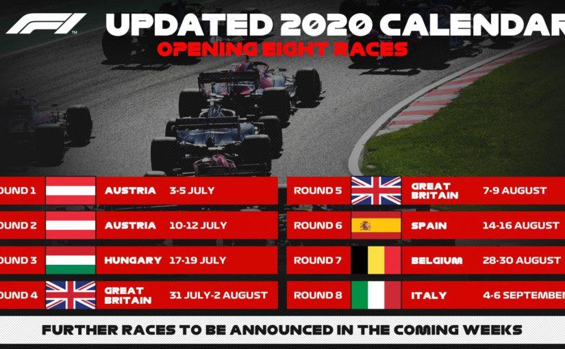 La F1 reprend dès la semaine prochaine !